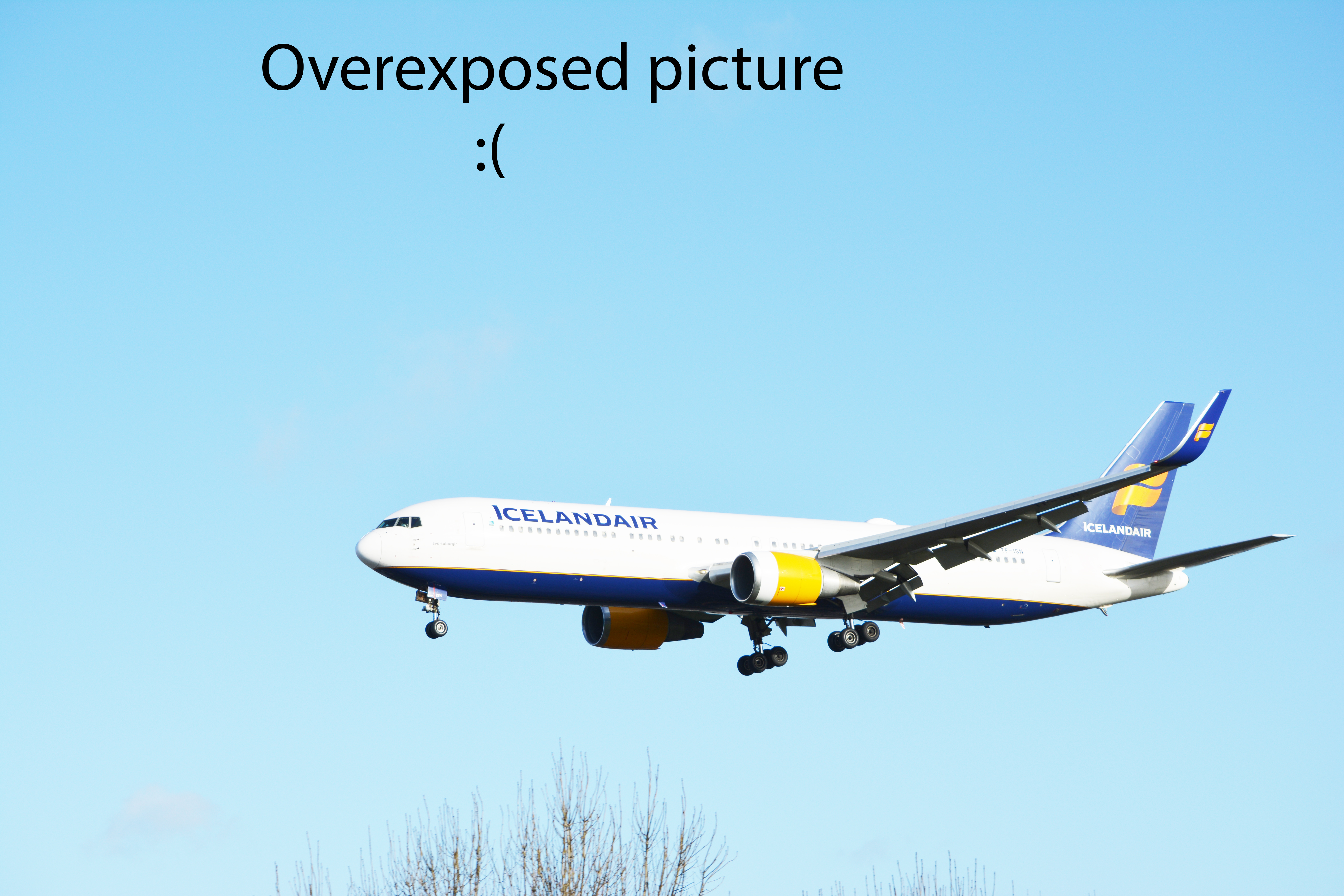 Icelandair B767 - Overexposed picture :(