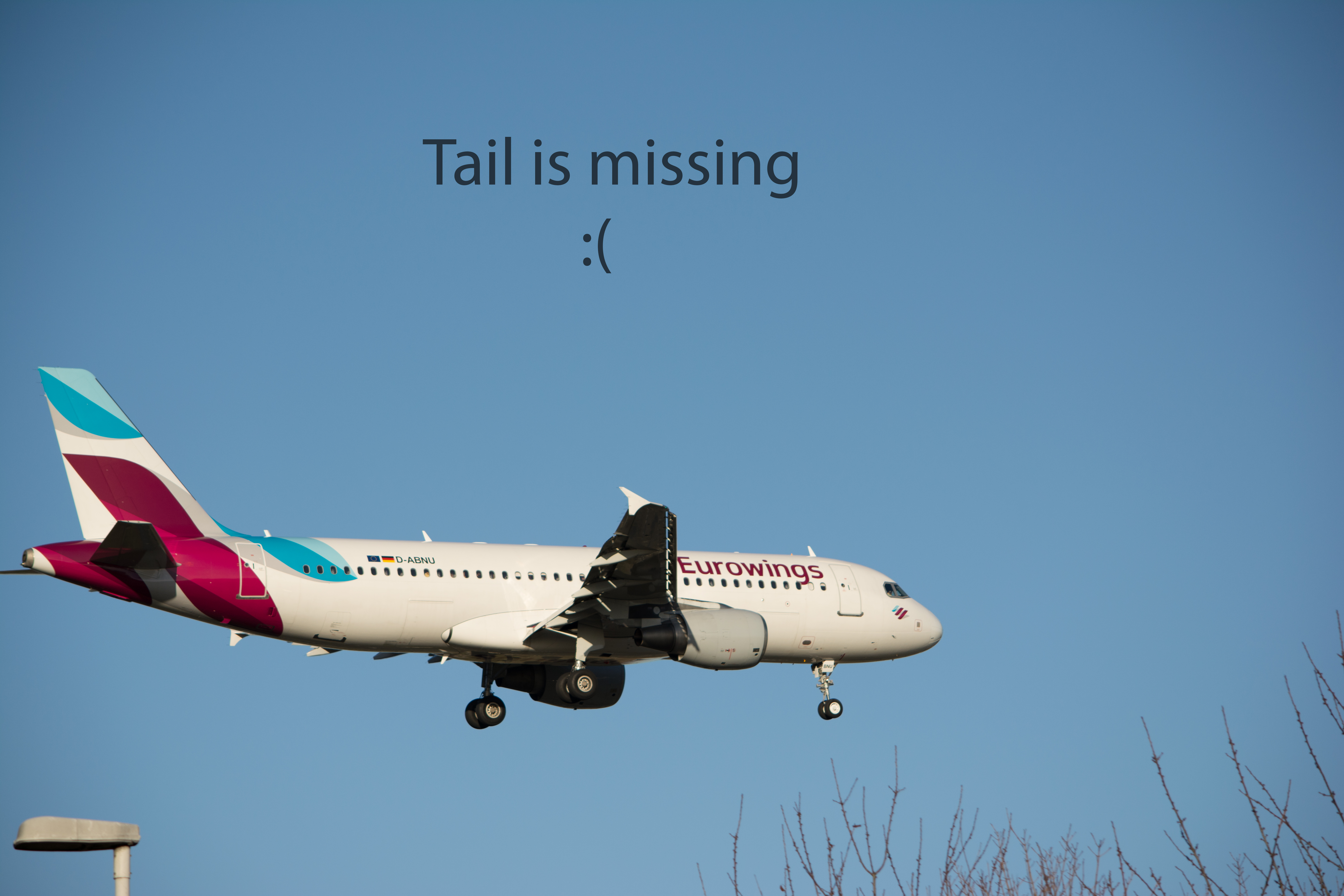 Eurowings A320 - Tail is missing :(