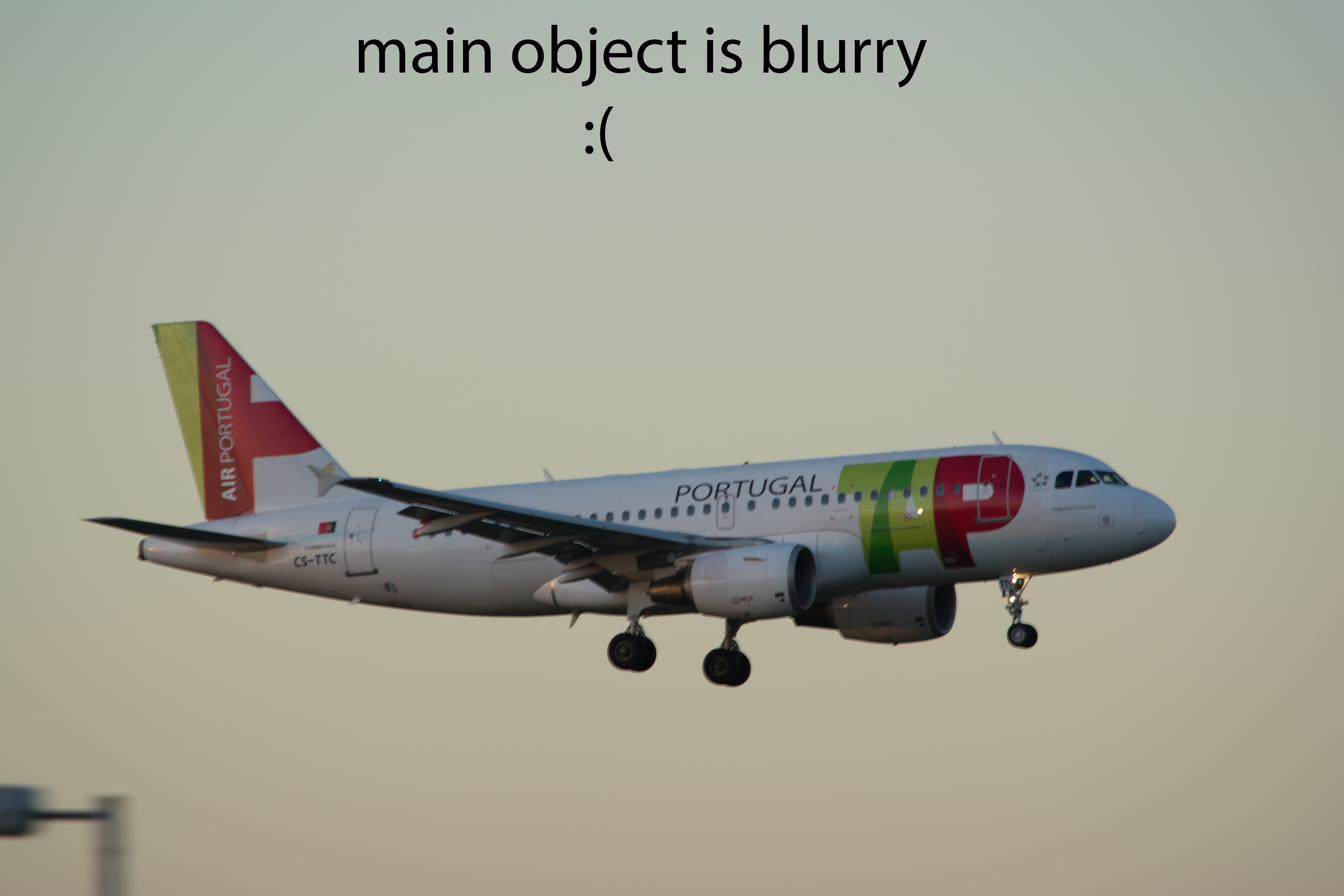 TAP - Air Portugal A319 - Main object is blurry :(