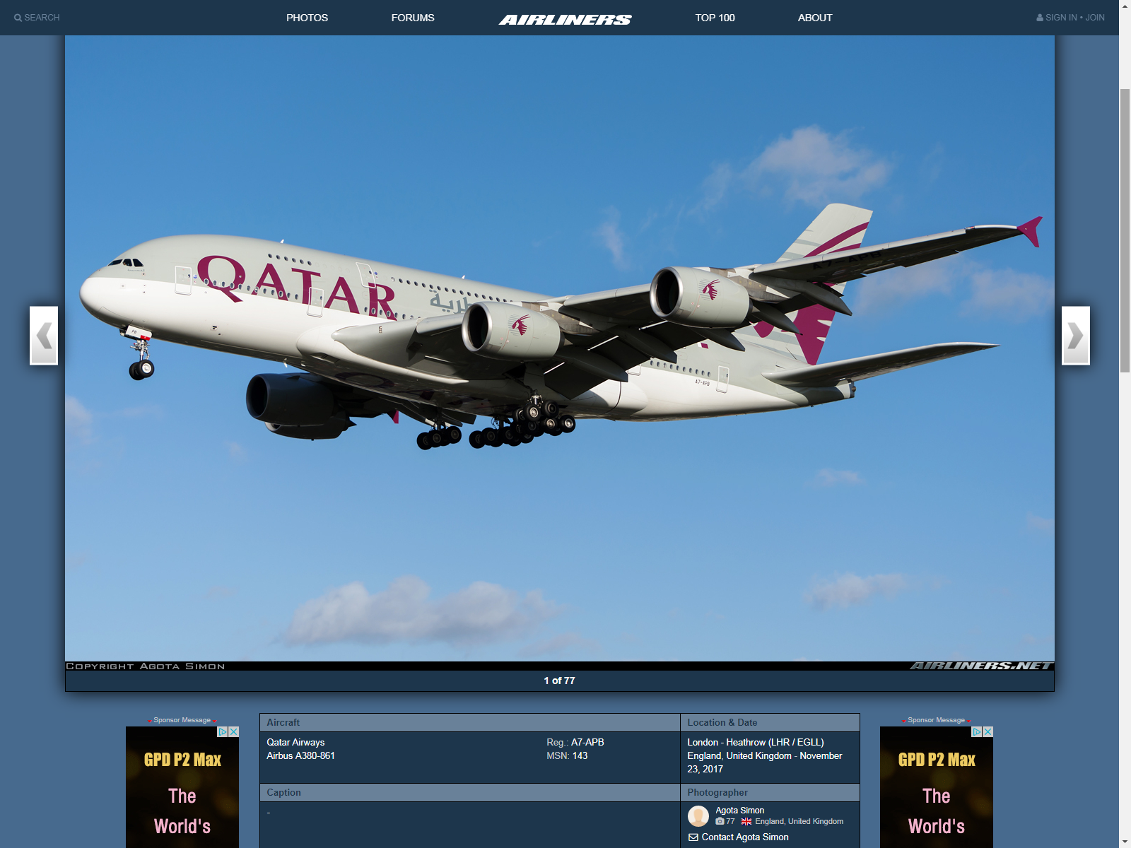 My first ever accepted photo on Airlinersnet.
