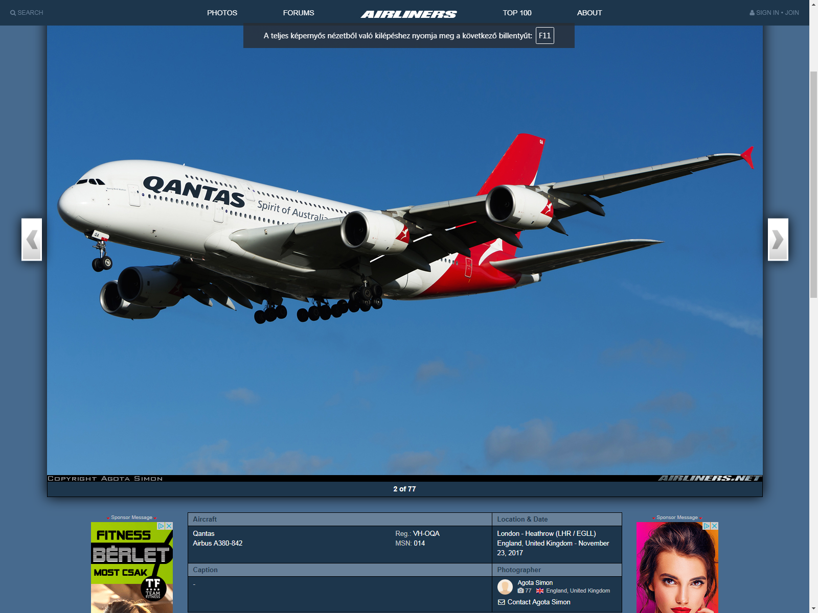 My second accepted photo on Airlinersnet.