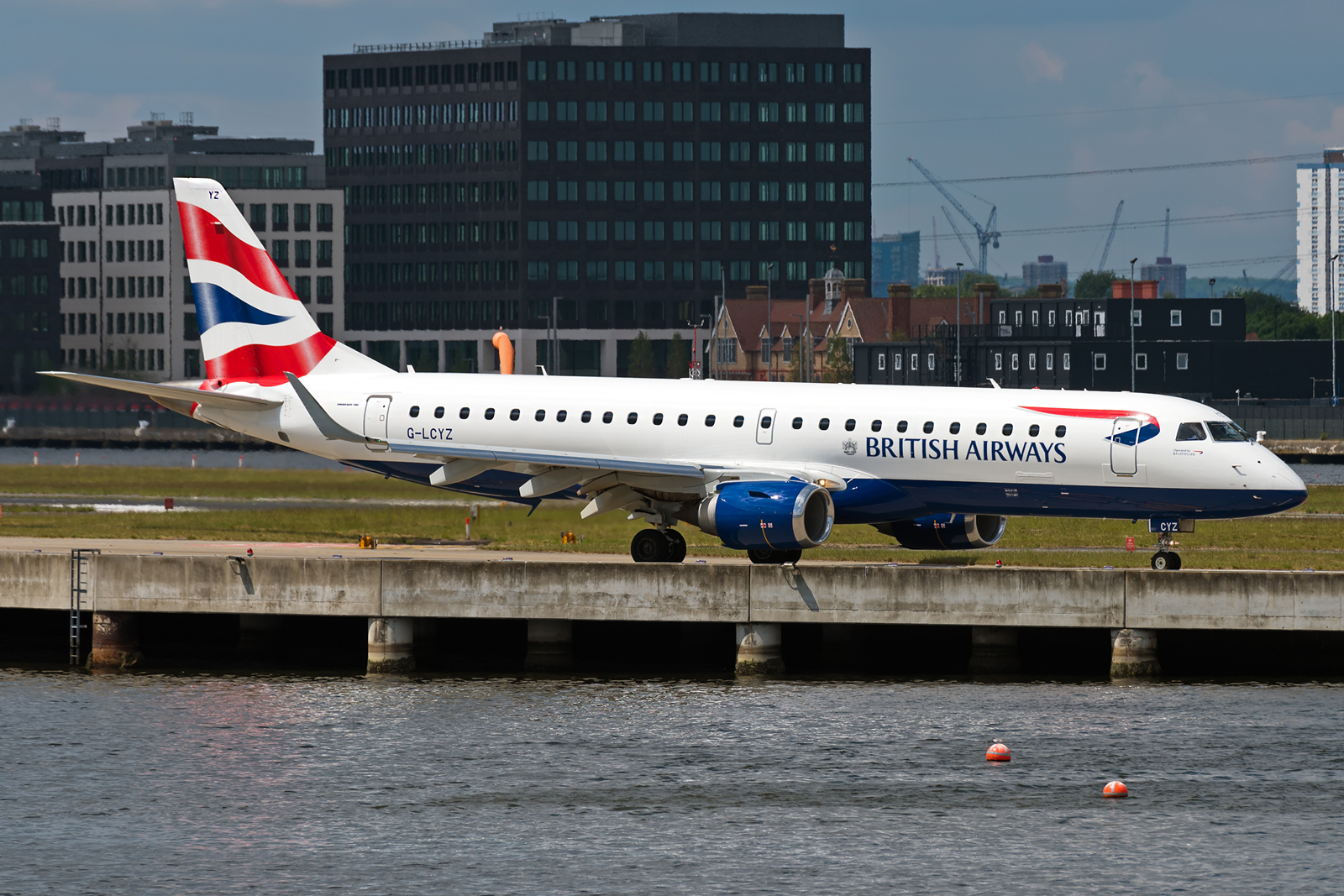 There are different places at LCY airport to catch planes. One of my favourites is this one.