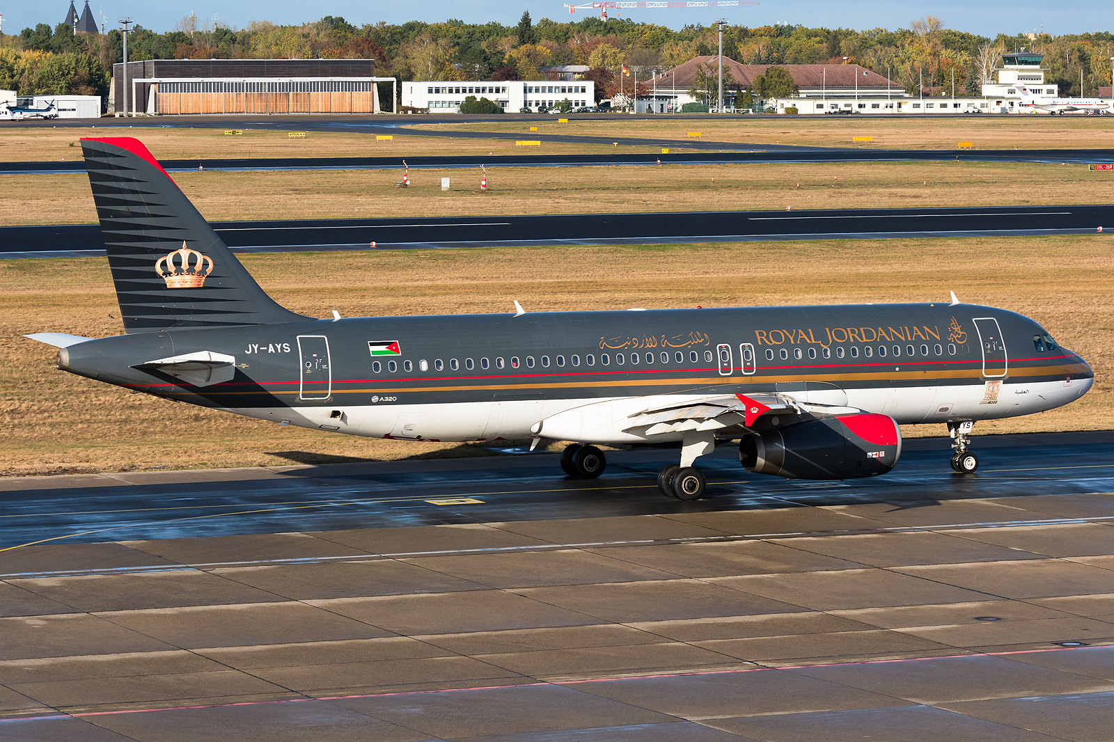 Royal Jordanian - Airbus A320 is taxiing for her departure.