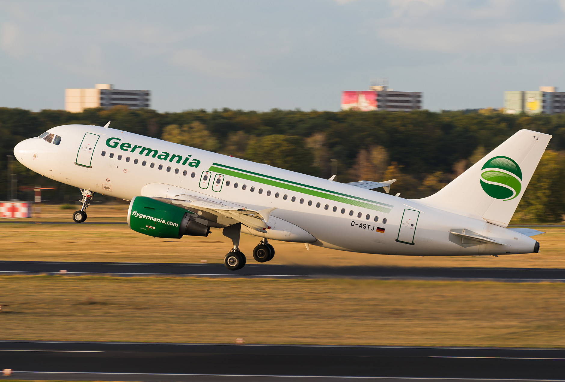 Germania - A319 and a beautiful golden hour.